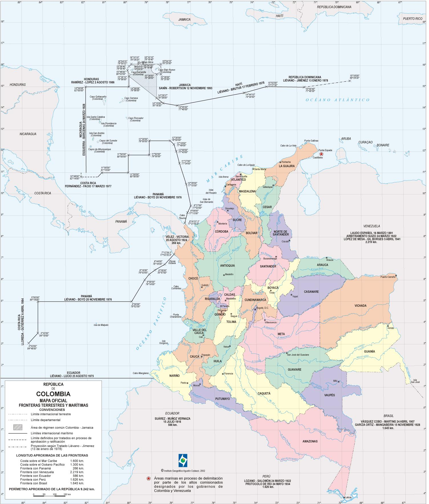 Colombia Official Map