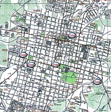 Santa Ana City Map, El Salvador
