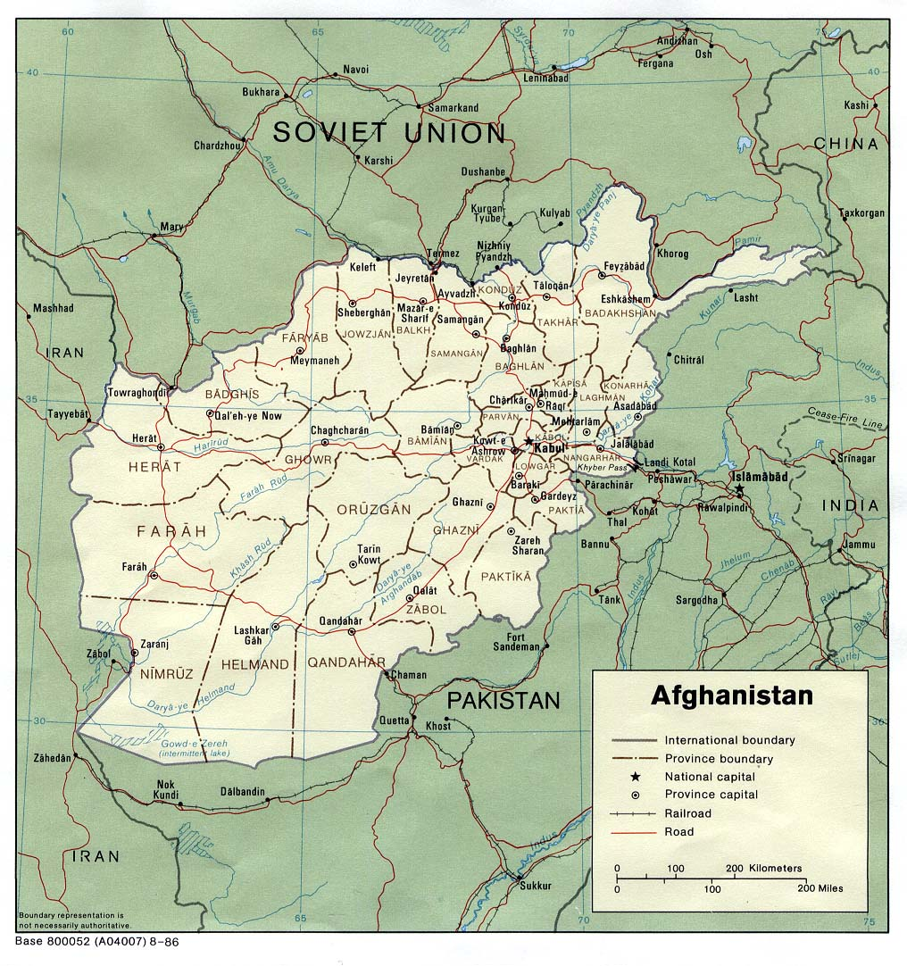 Mapa Politico de Afganistán