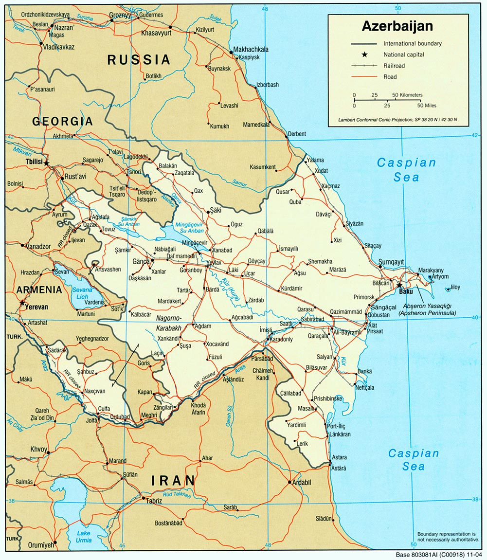 Azerbaijan Political Map
