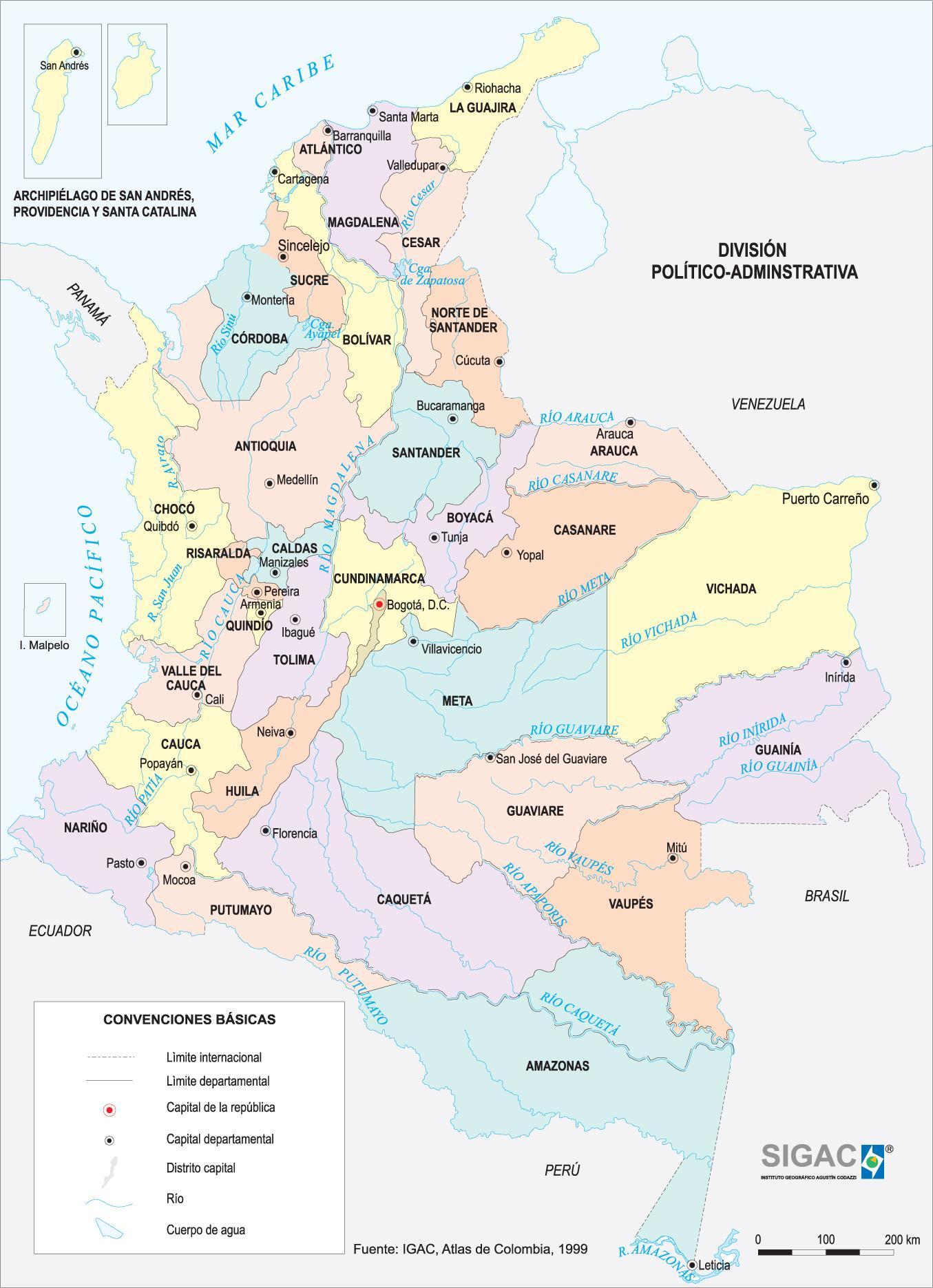 Mapa Político de Colombia