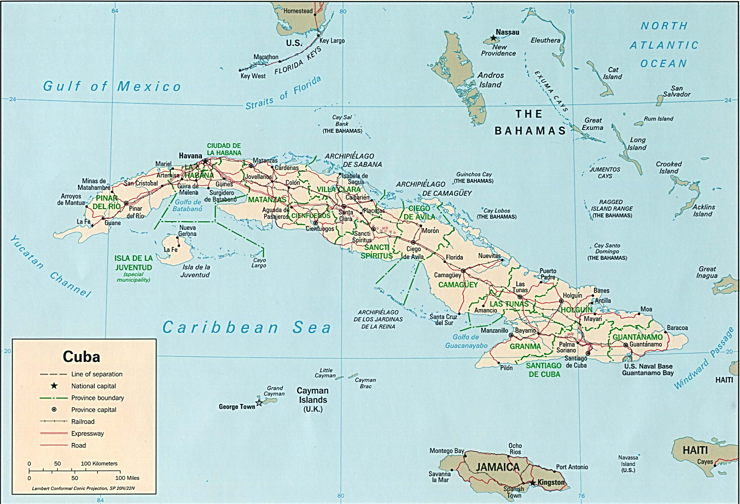 Mapa Político de Cuba
