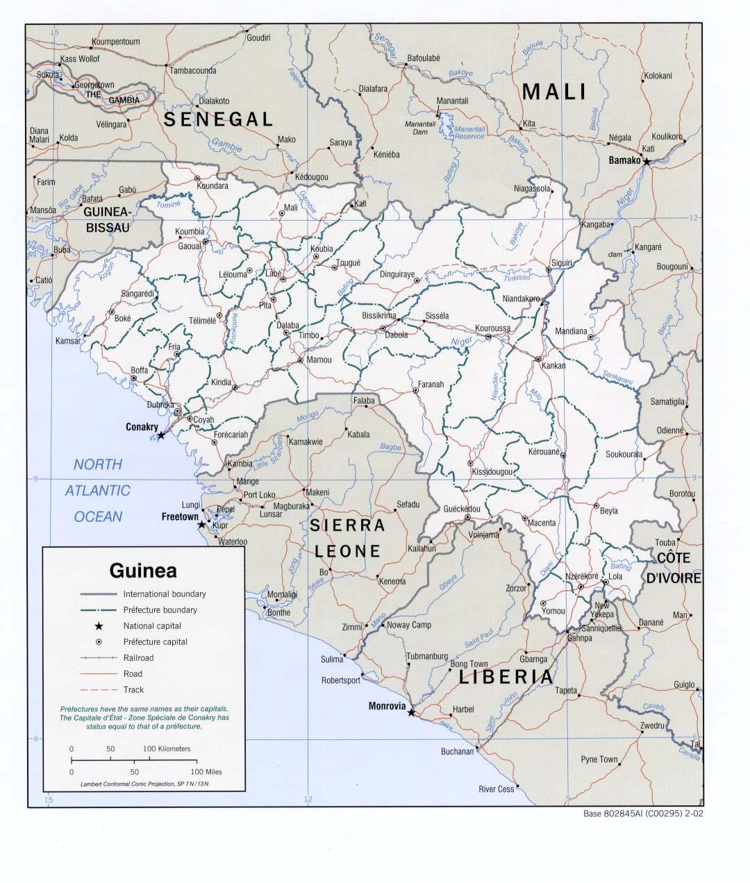 Mapa Politico de Guinea