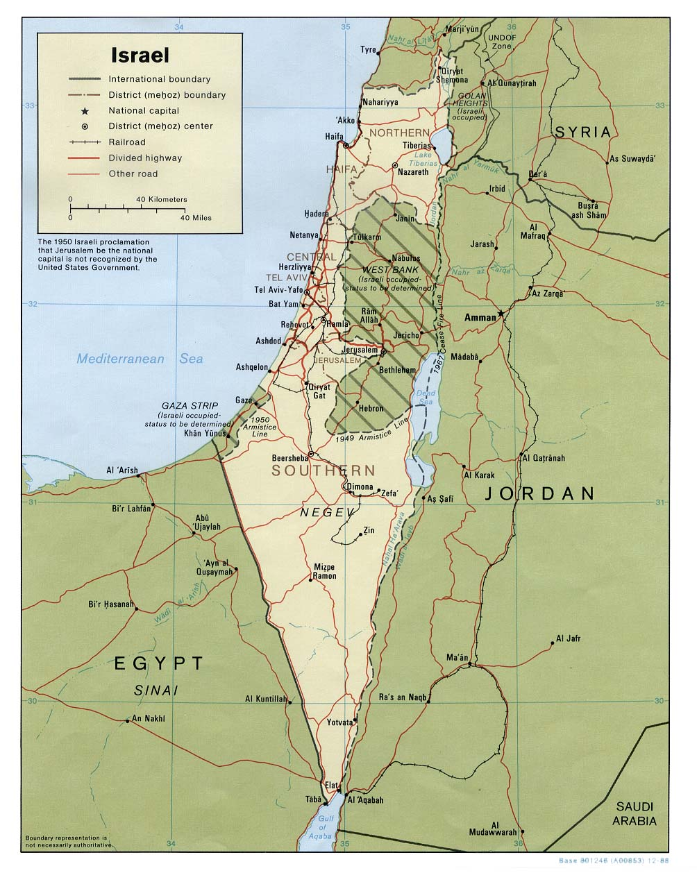 Israel and Gaza Map