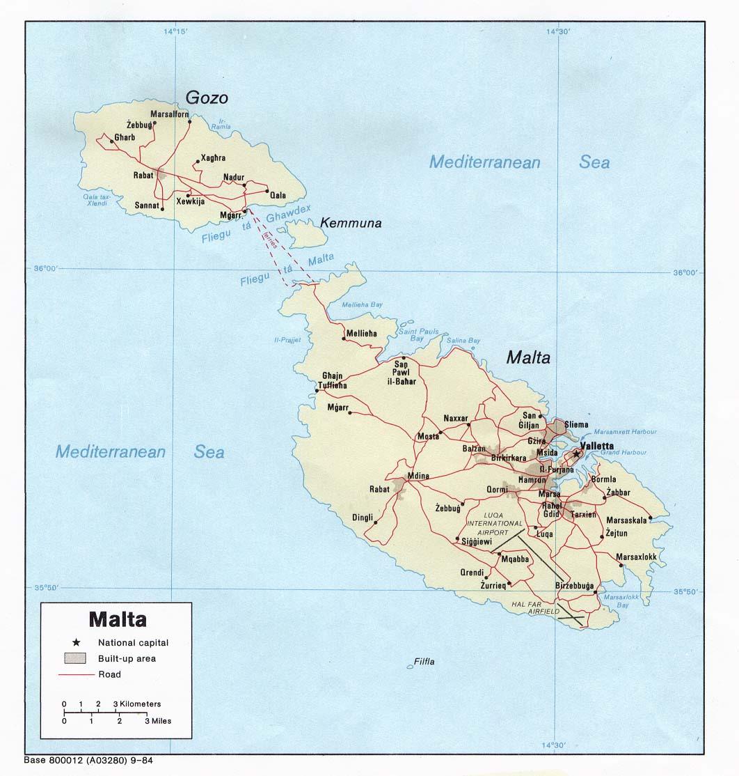 Mapa Politico de Malta