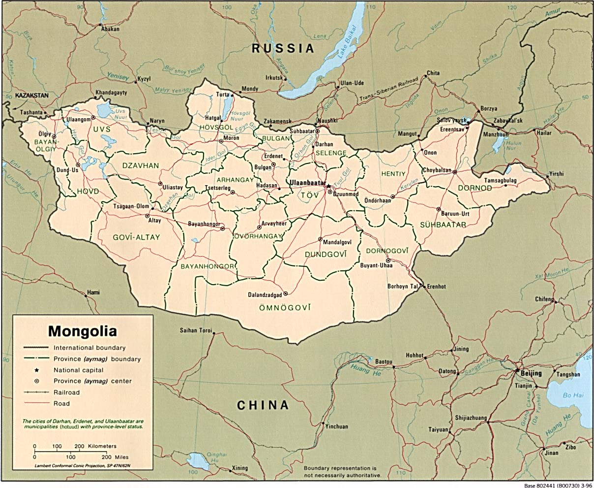 Mongolia Political Map