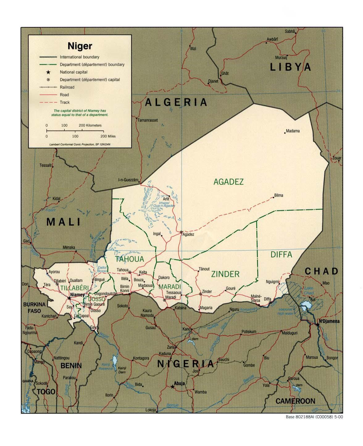 Mapa Politico de Níger