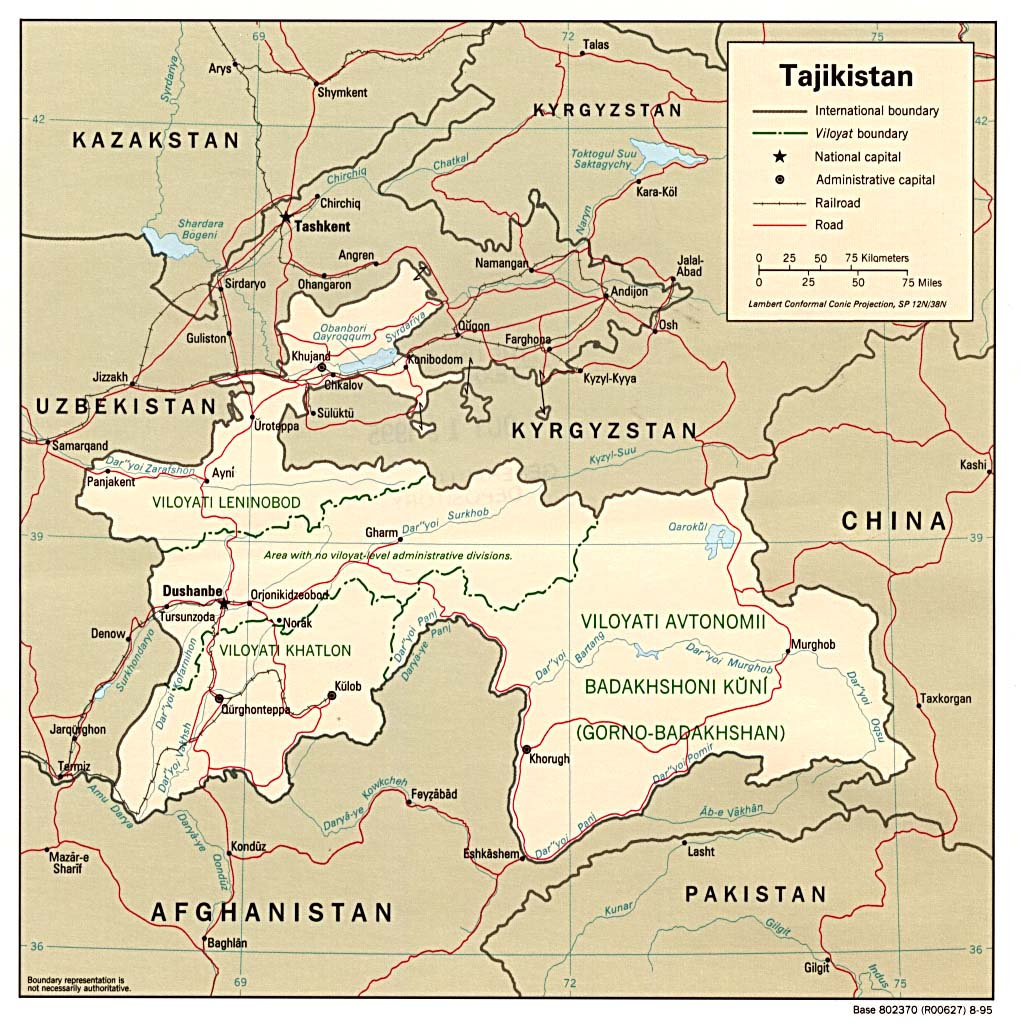 Tajikistan Political Map