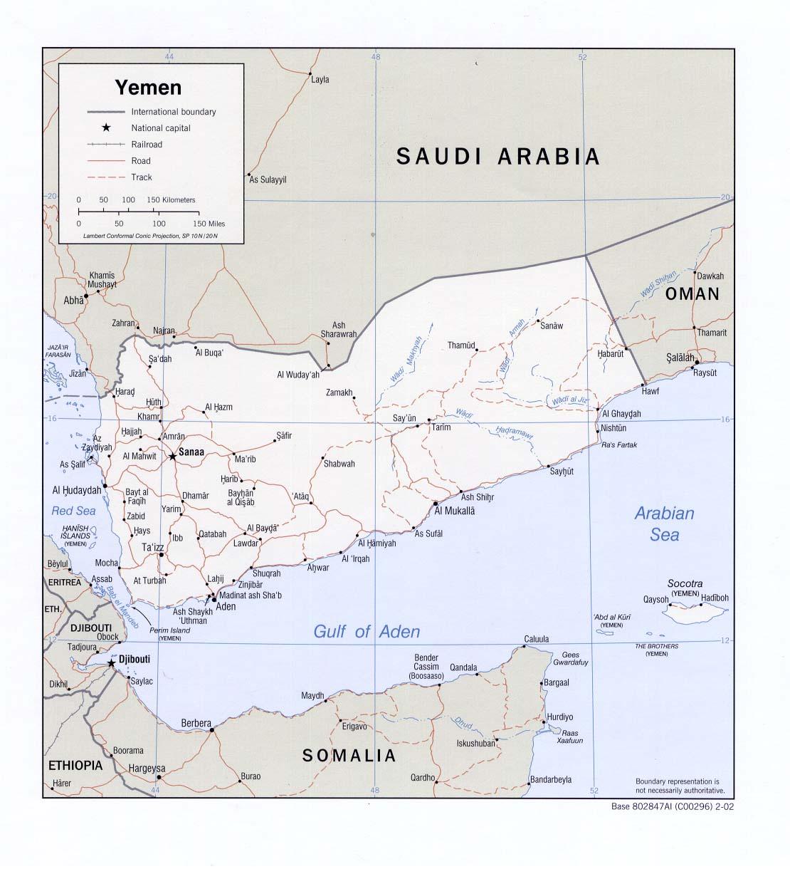 Mapa Politico de Yemen