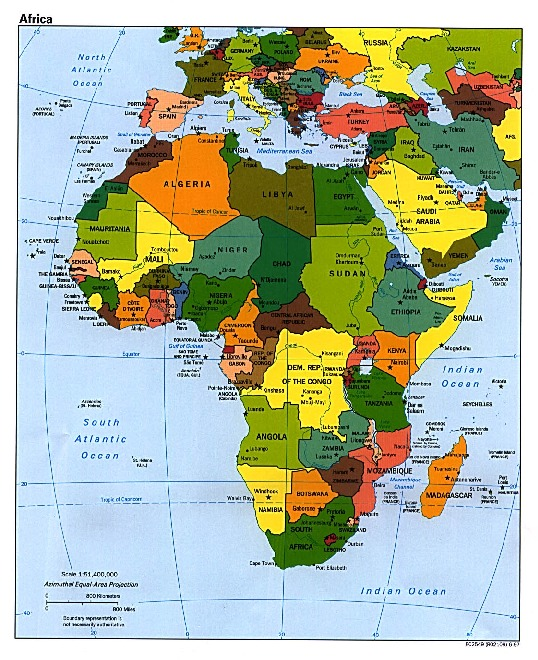 Africa Political Map
