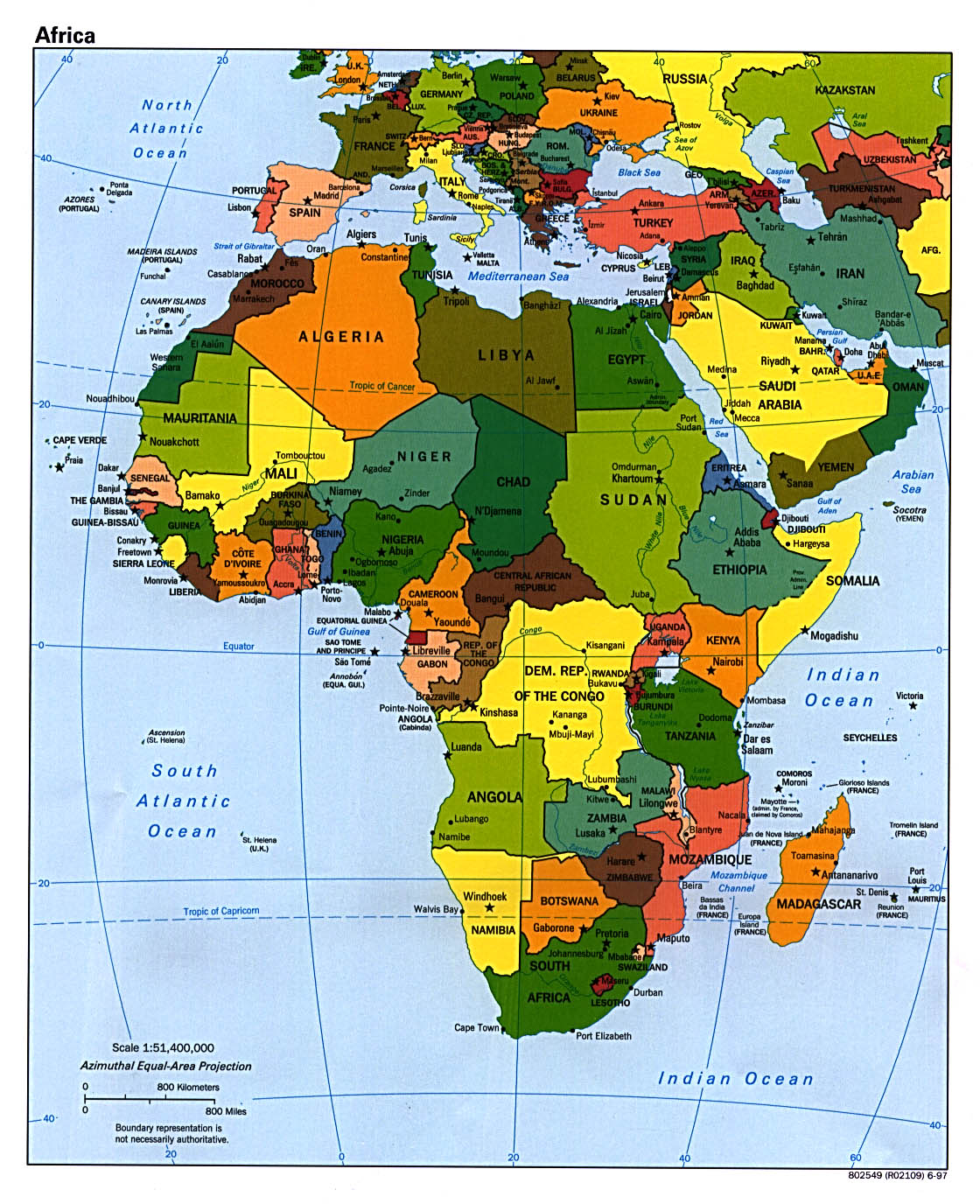 Africa Political Map 1997