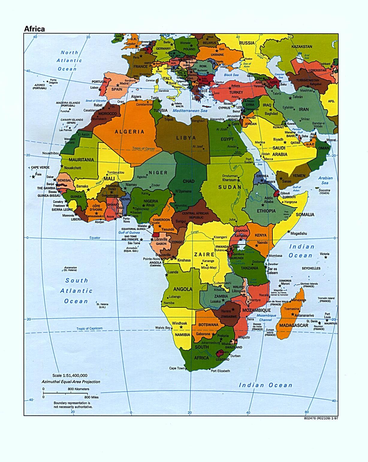 Africa Political Map 1997