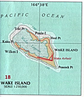 Mapa Politico de la Isla Wake