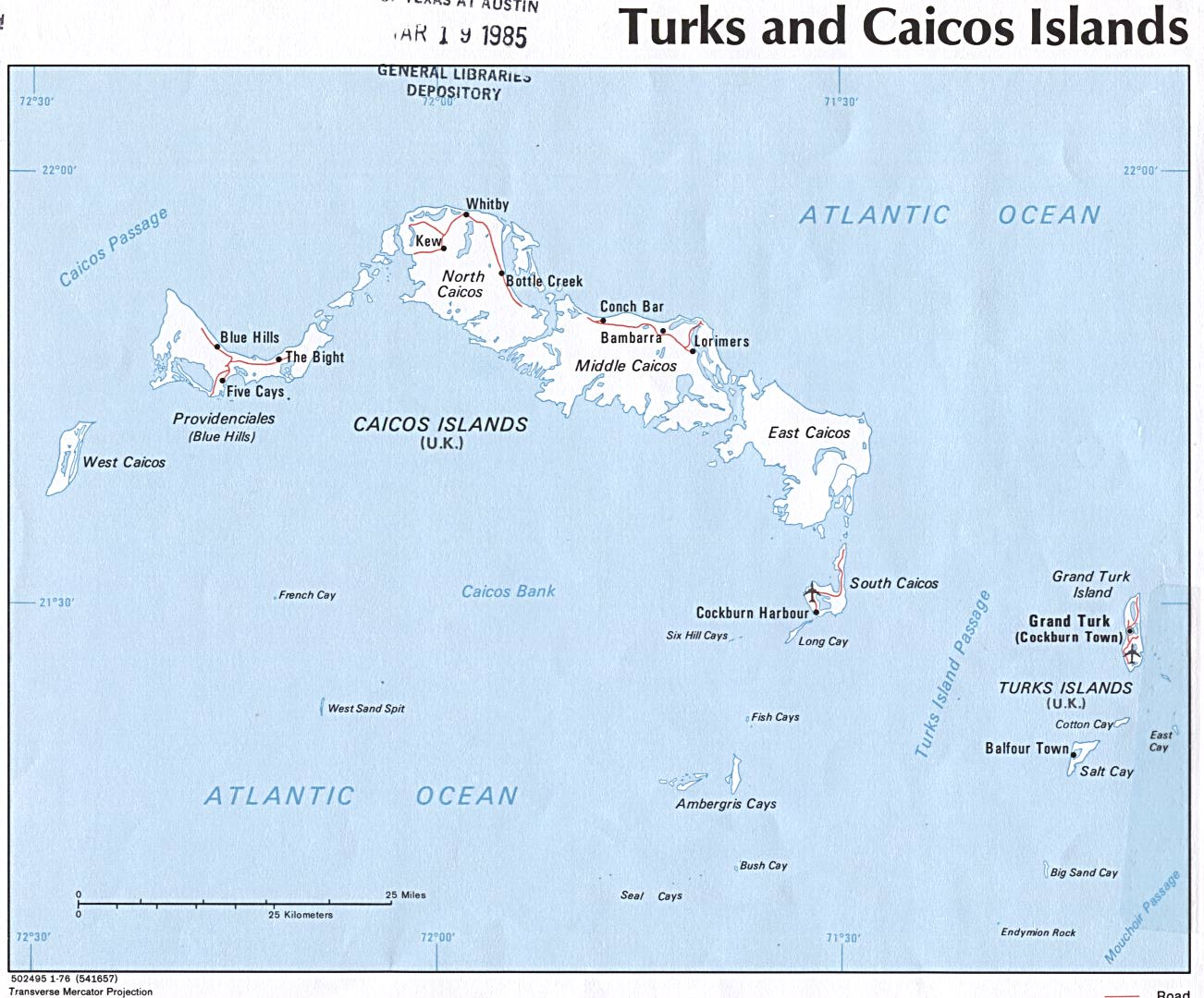 Turks and Caicos Islands Political Map
