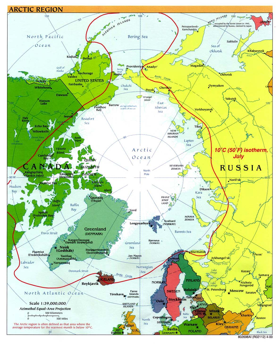 Arctic political map 2000