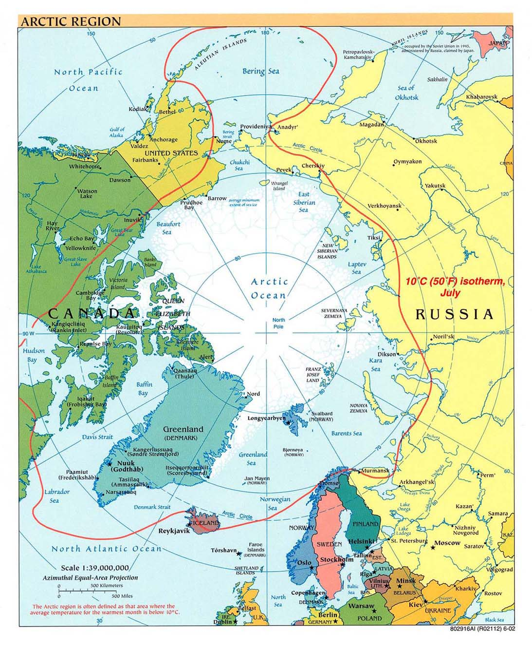 Arctic political map 2002
