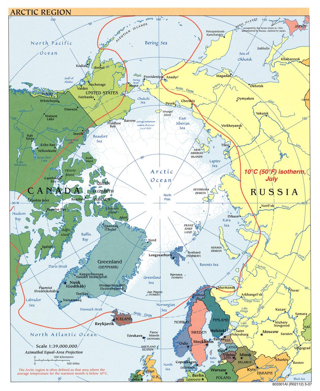 Arctic political map 2007