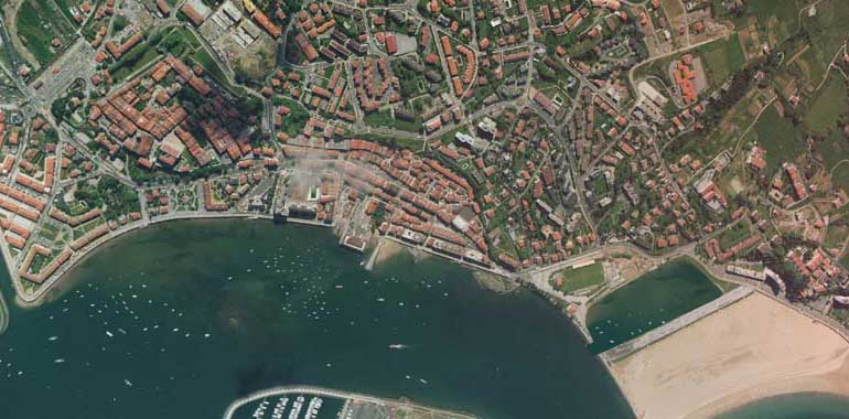 Aerial or Satellite Image, Photo, Hondarribia, Guipuzcoa, Basque Country, Spain