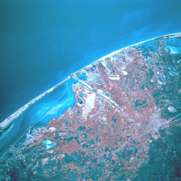 Satellite Image, Photo of Matamoros, Tamaulipas State, Mexico