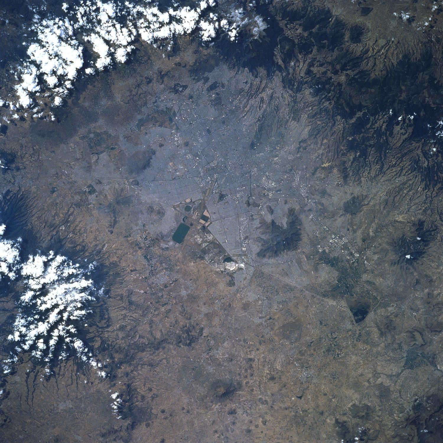 Satellite Image, Photo of Mexico City DF