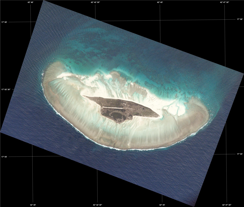 Mapa Satelital de la Isla Juan de Nova