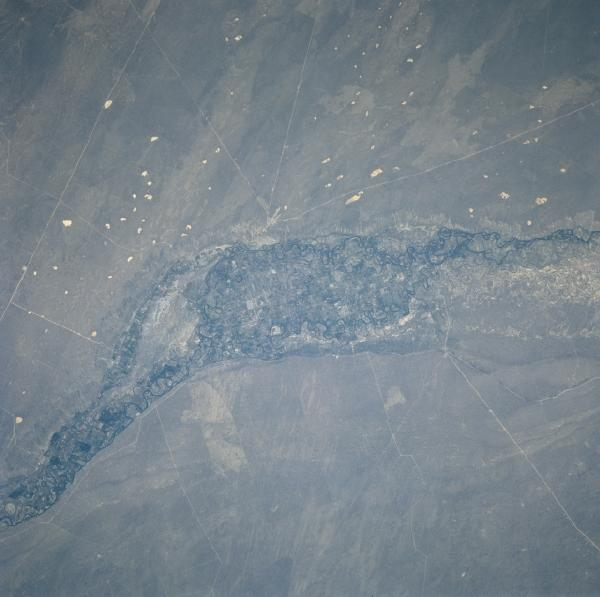Satellite Image, Photo of Rio Negro, Argentina