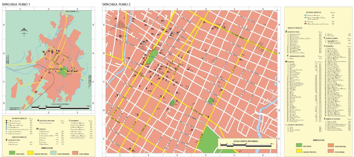 Tapachula Map, Chiapas, Mexico