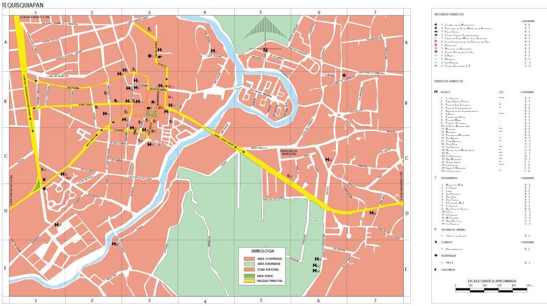Tequisquiapan Map, Querétaro de Arteaga, Mexico