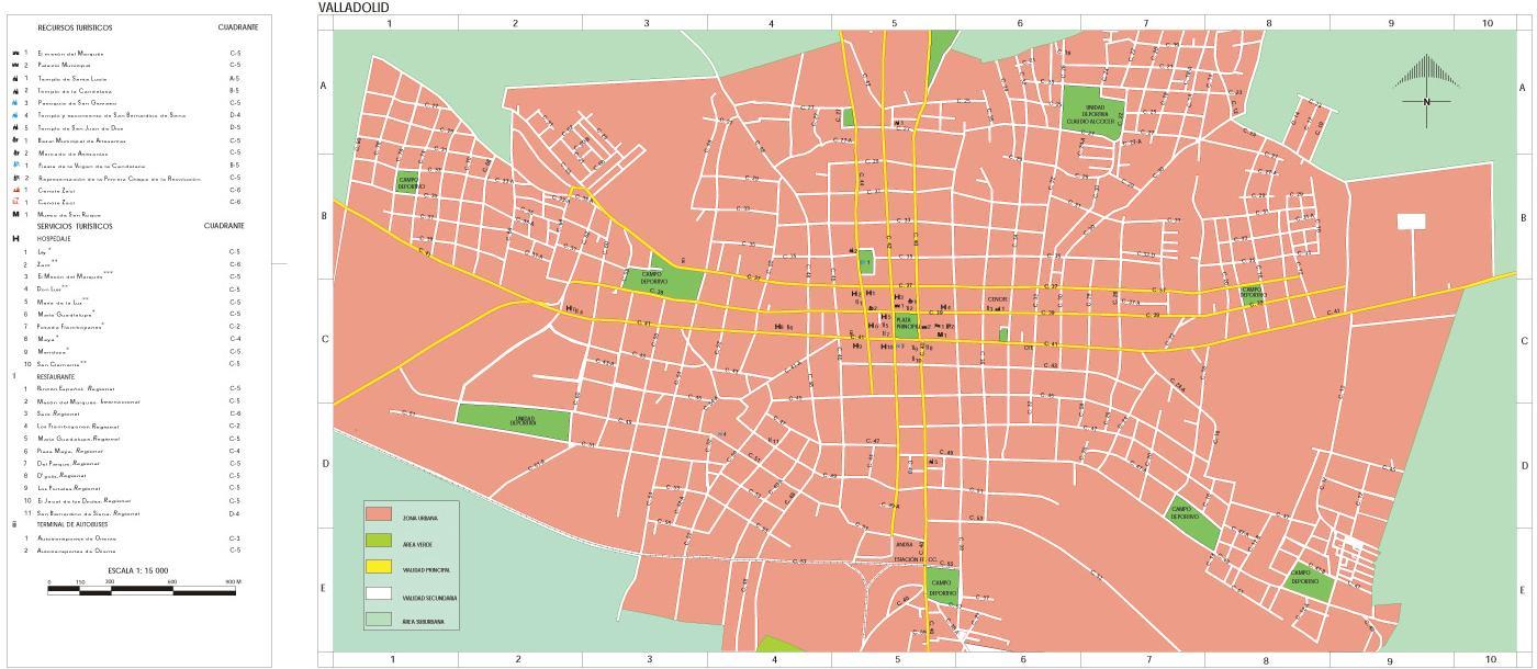 Mapa Valladolid, Yucatán, Mexico