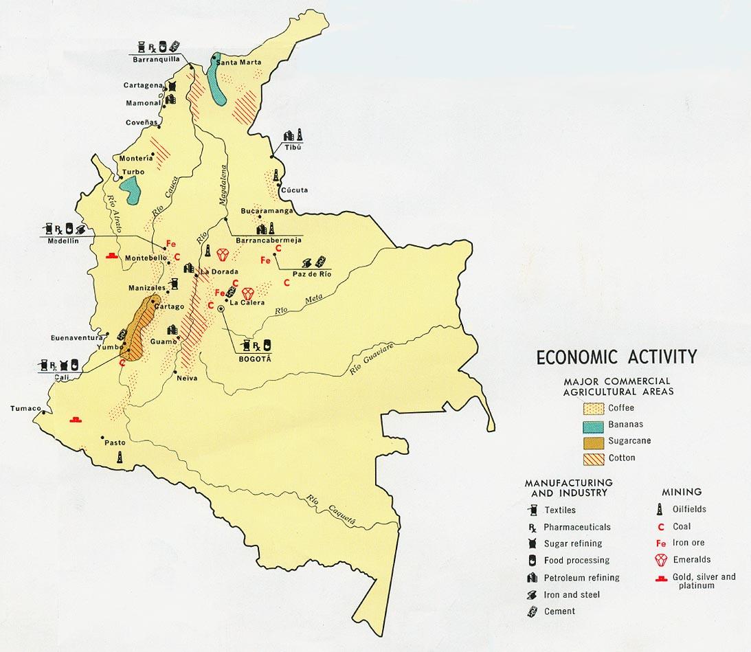 Colombia Economic Activity Map