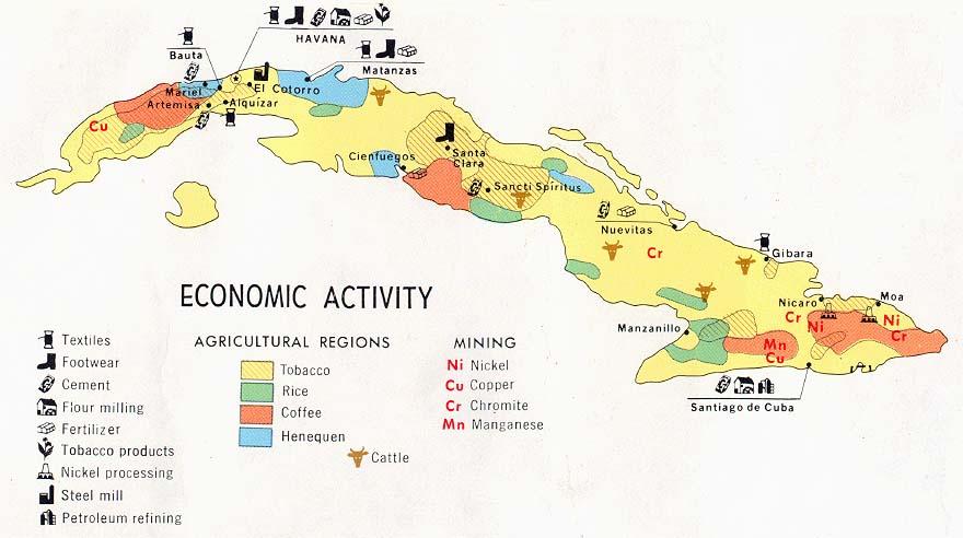 Mapa de Actividad Económica de Cuba