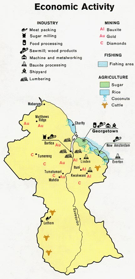 Guyana Economic Activity Map