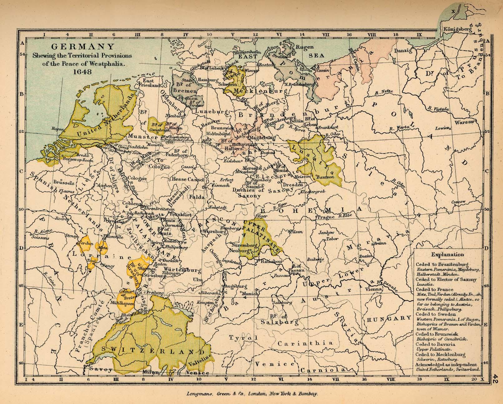 Mapa de Alemania Despues de la Paz de Westfalia 1648