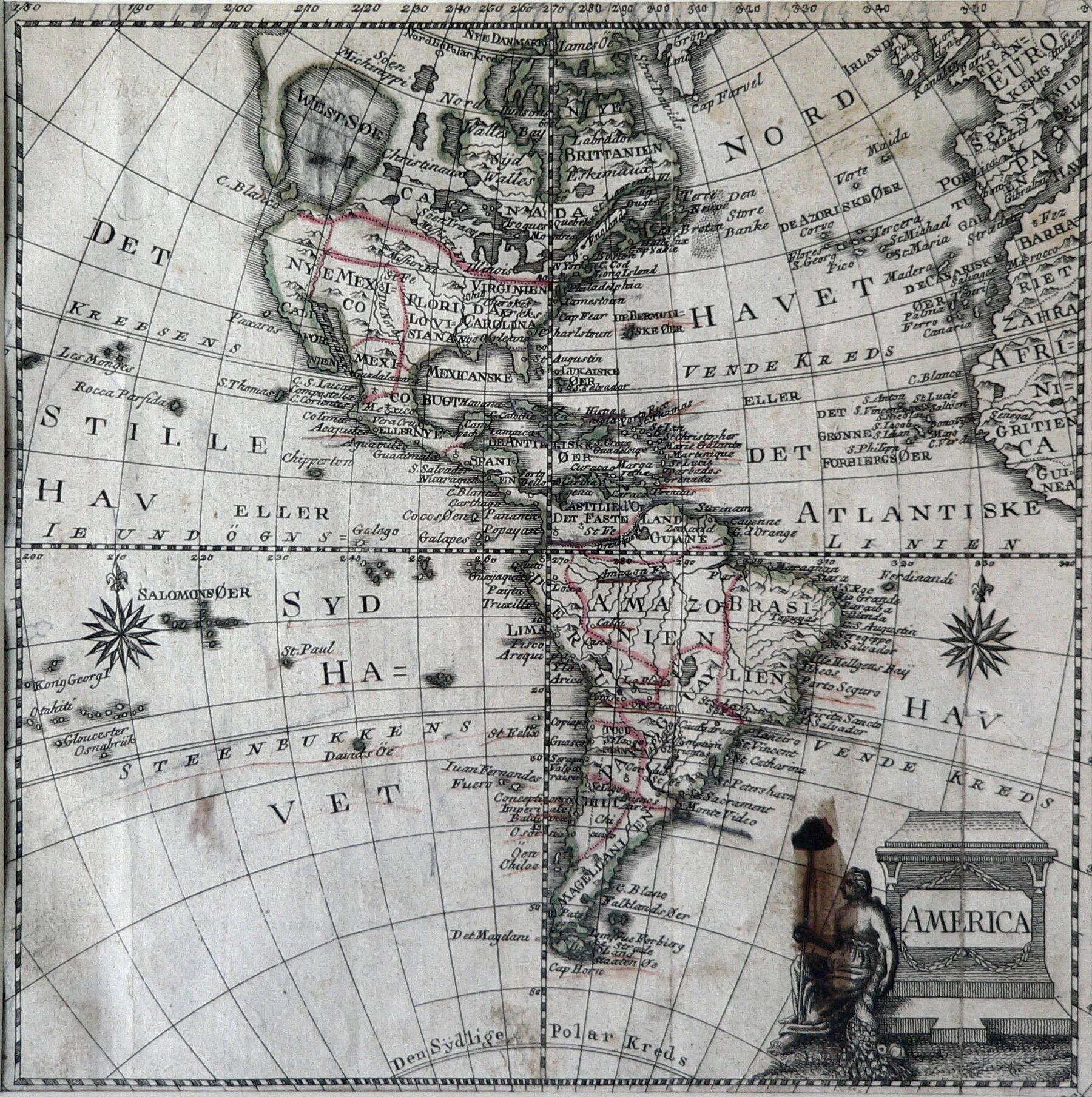 Mapa de América circa 1770