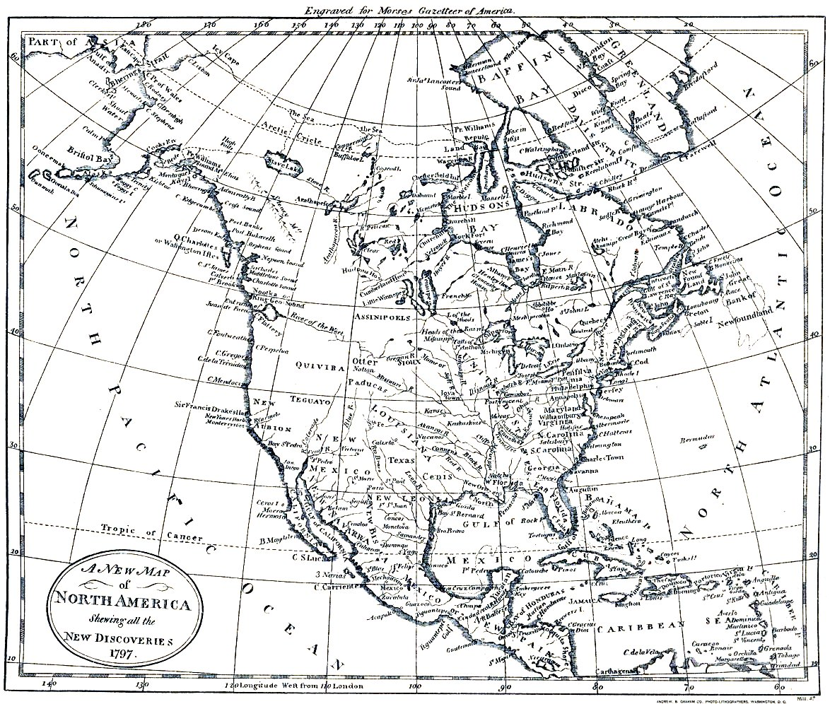 North America Map 1797