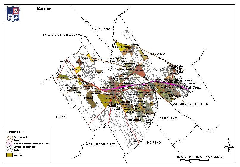 Pilar Argentina  city images : ... de Barrios de Pilar, Prov. Buenos Aires, Argentina mapa.owje.com