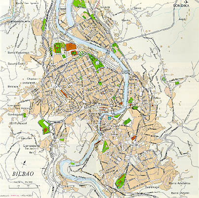 Mapa De Bilbao España.Mapa De Bilbao Espana Mapa Owje Com