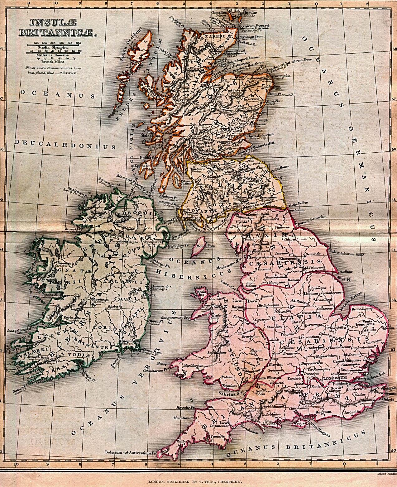 Mapa de Britannia (Isla de Gran Bretaña)