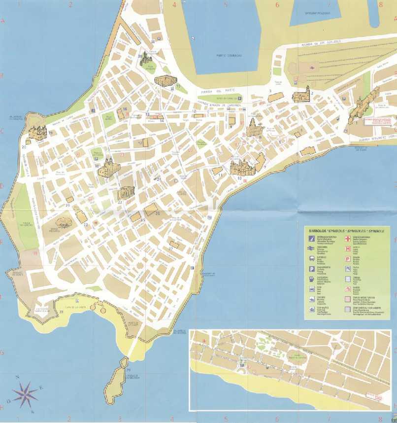 Mapa de Cadiz, España