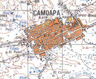 Camoapa Map, Boaco, Nicaragua