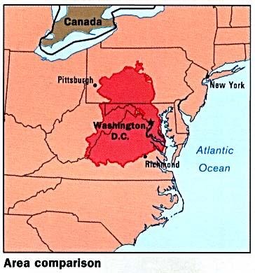 Mapa de Comparación de Área de la Ex Alemania del Este