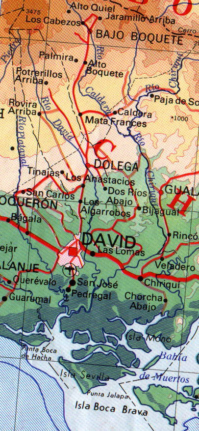 David Region Map, Panama