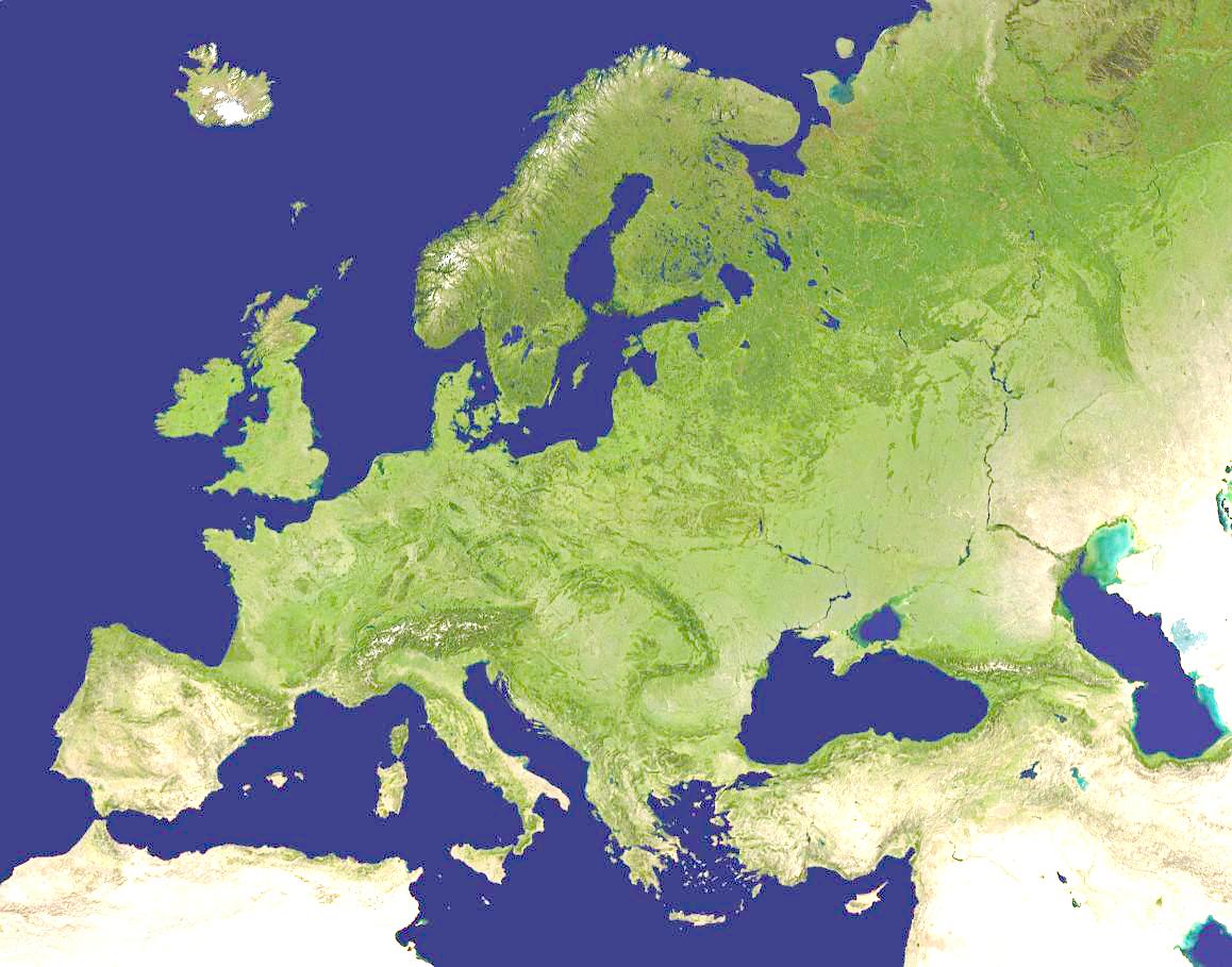 Mapa de Europa (satelital)