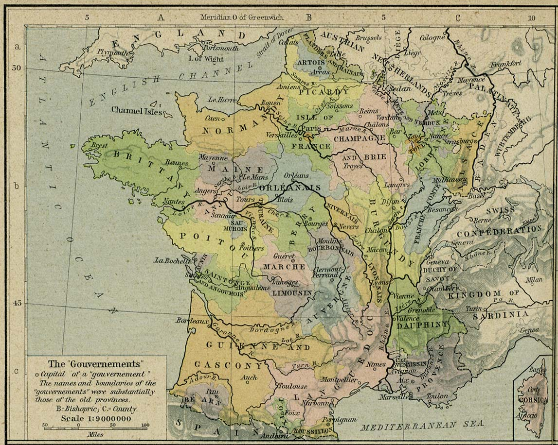 France Map 1789
