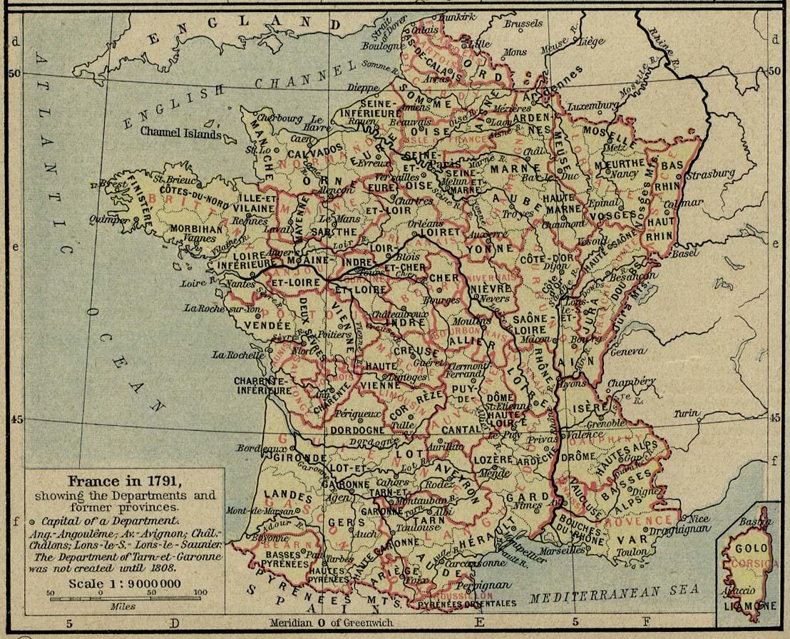 France Map 1791