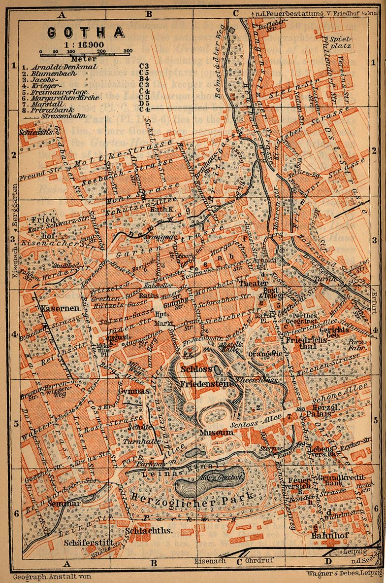 Mapa de Gotha, Alemania 1910