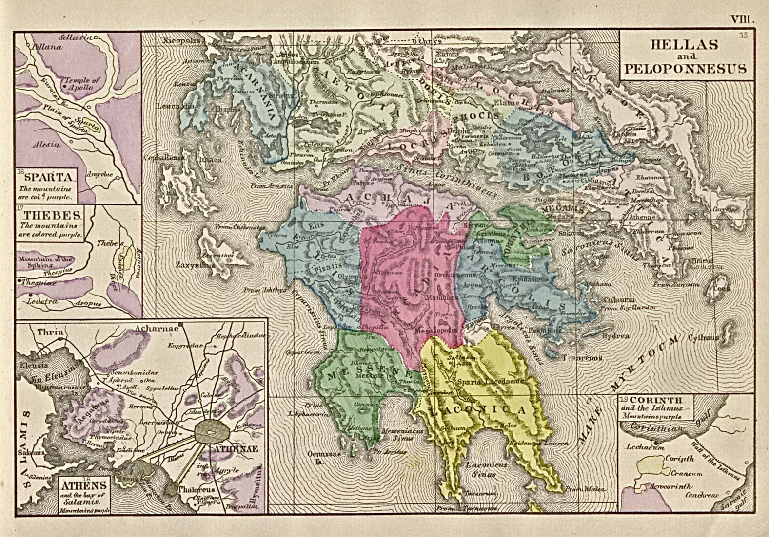 Hellas and Peloponnesus Map
