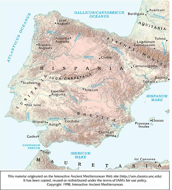 Hispania map