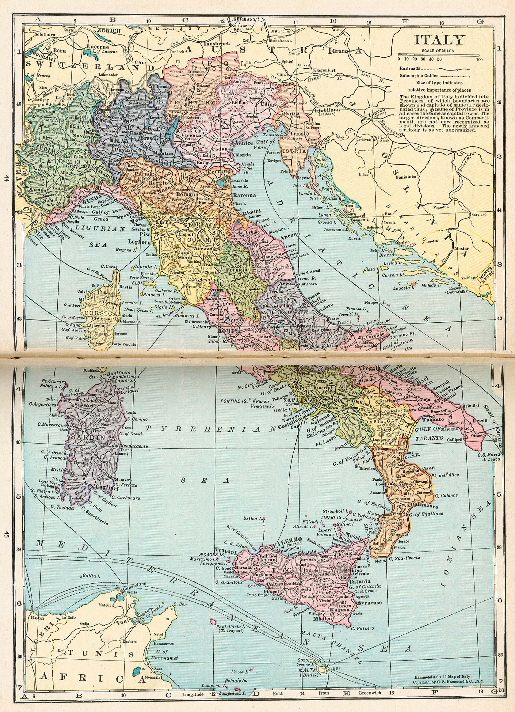 Italy Map 1921