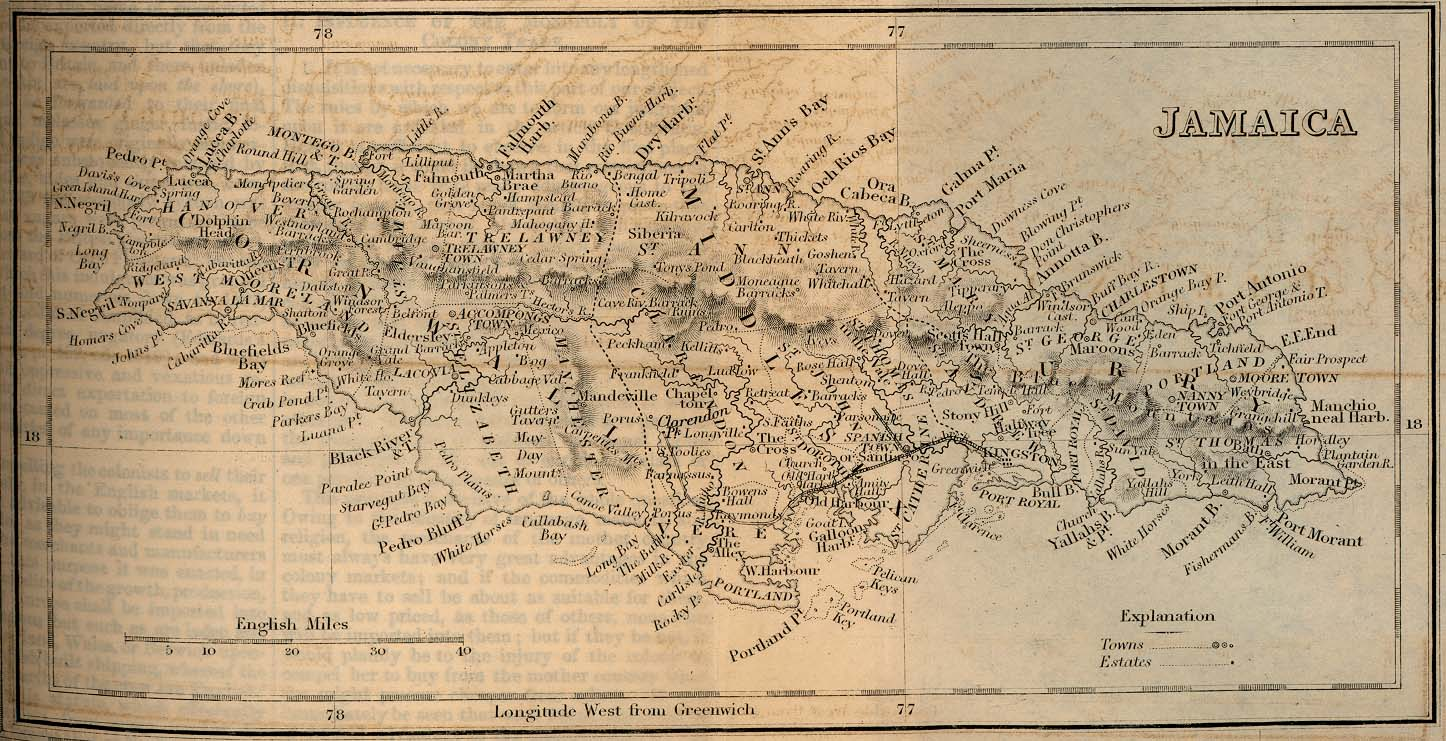 Jamaica Map 1882